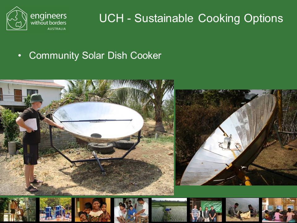 UCH - Sustainable Cooking Options Community Solar Dish Cooker