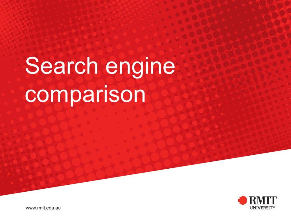 Search engine comparison