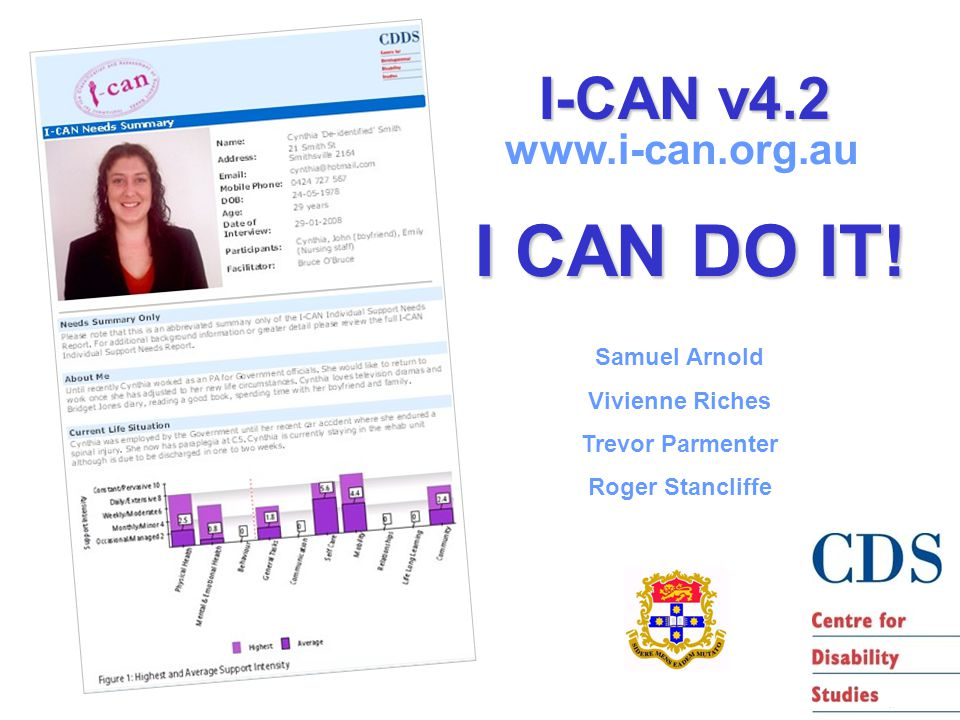 I-CAN v4.2 www.i-can.org.au I CAN DO IT.