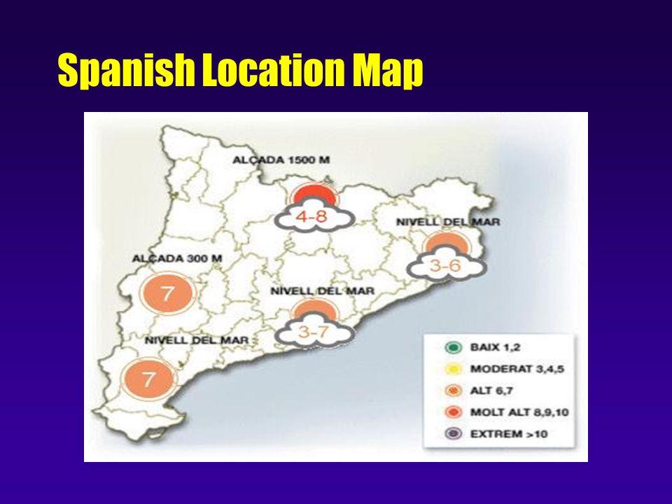 Spanish Location Map