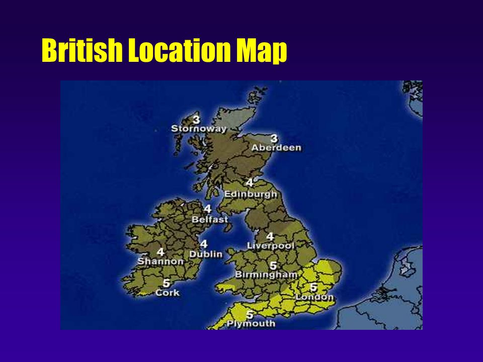 British Location Map
