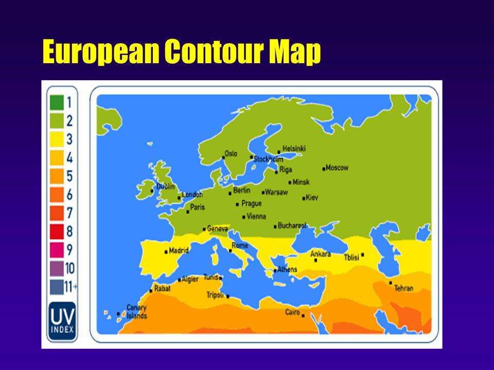 European Contour Map