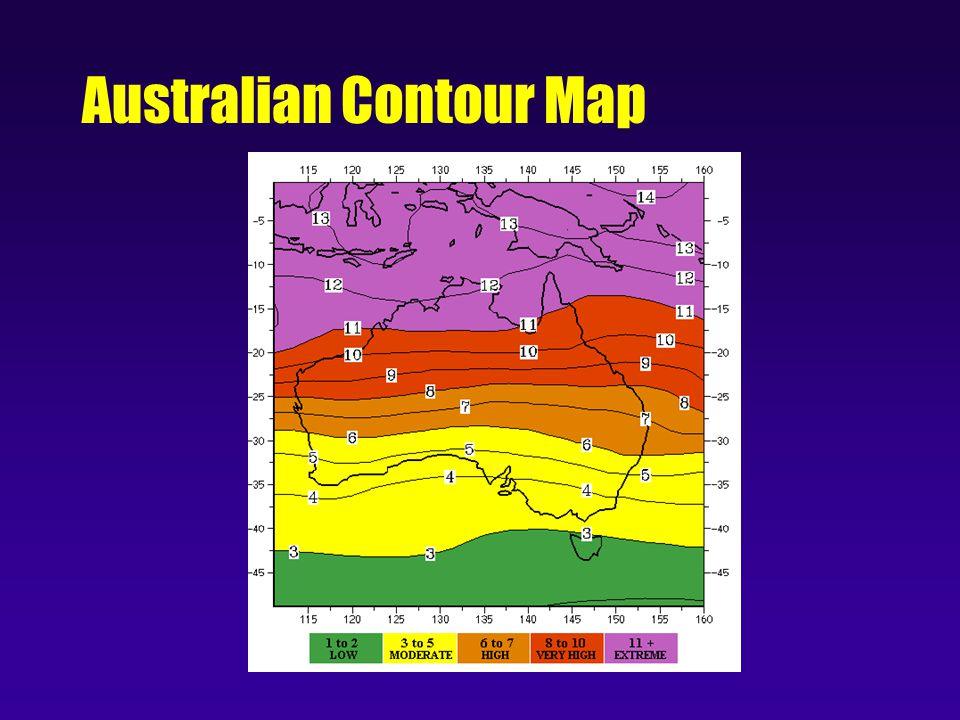 Australian Contour Map