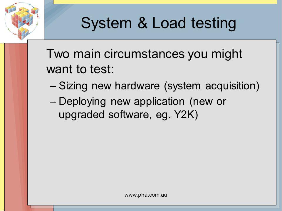 www.pha.com.au Starting a Run Use the script start.sh to initiate run.
