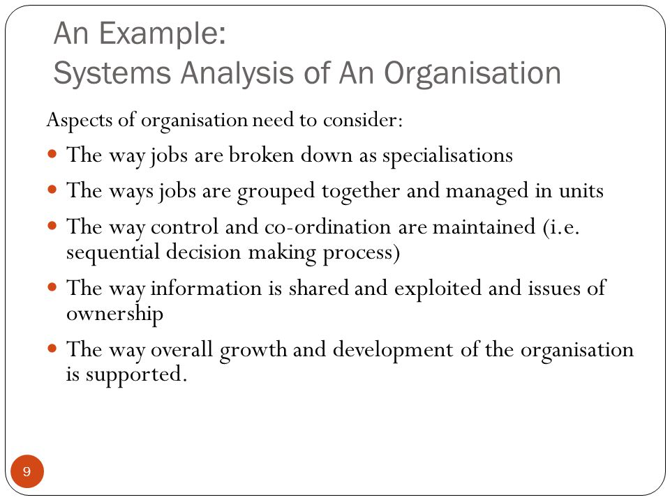 Key System Principles Openness: - System behaviour can only be understood in relation to the external environment - Distinction between the system and the environment – systems boundary - Controllable and uncontrollable variables - Transactional environment and variables that can be influenced.
