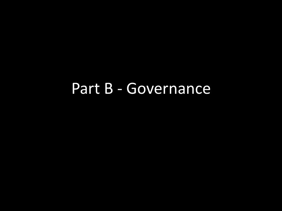 Part B - Governance