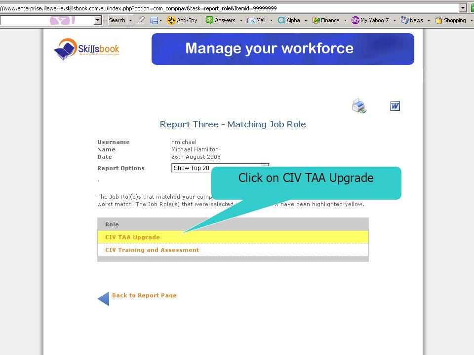 Click on CIV TAA Upgrade