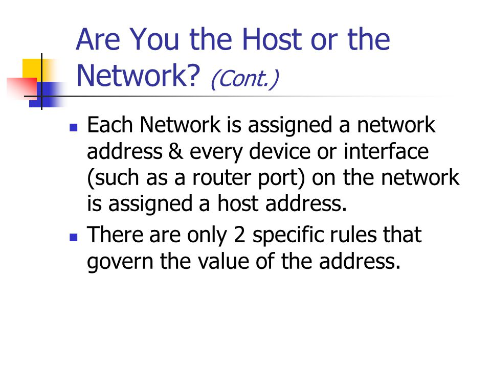 Are You the Host or the Network.