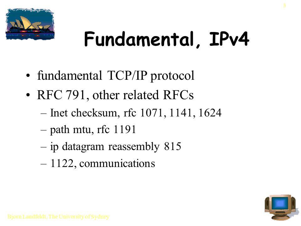 Bjorn Landfeldt, The University of Sydney 14 IP encapsulation