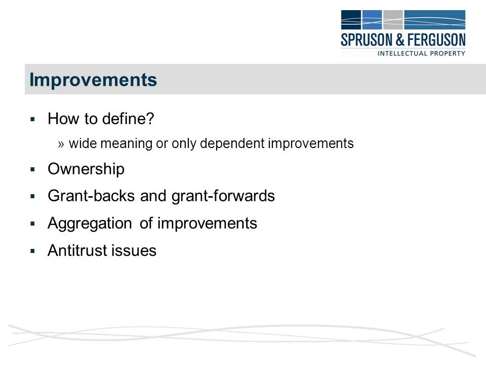Improvements  How to define.