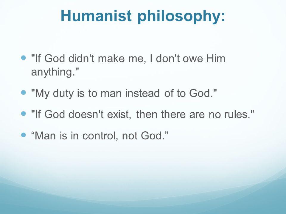 Humanist philosophy: