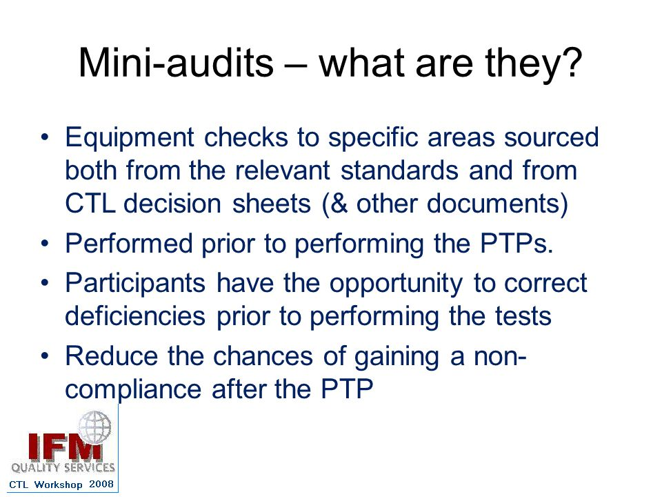 Mini-audits – what are they.