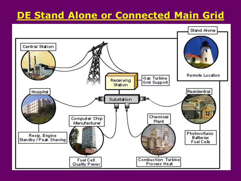 DE Stand Alone or Connected Main Grid