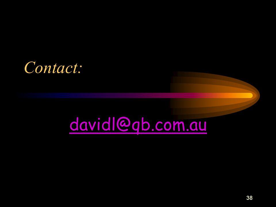 38 Contact: davidl@qb.com.au