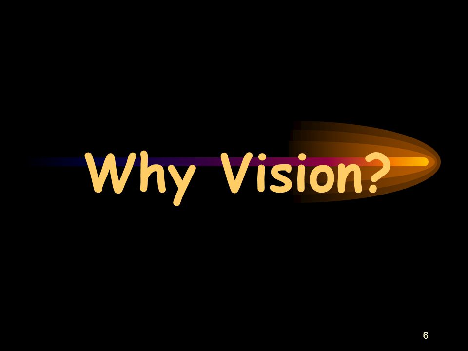 6 Why Vision?