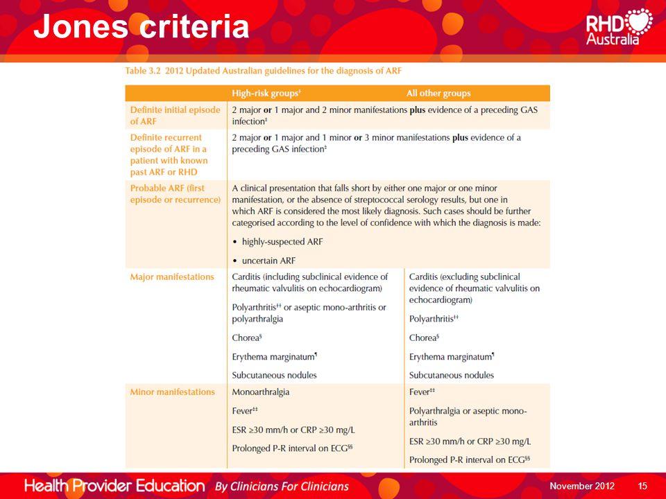 Jones criteria November 2012 15
