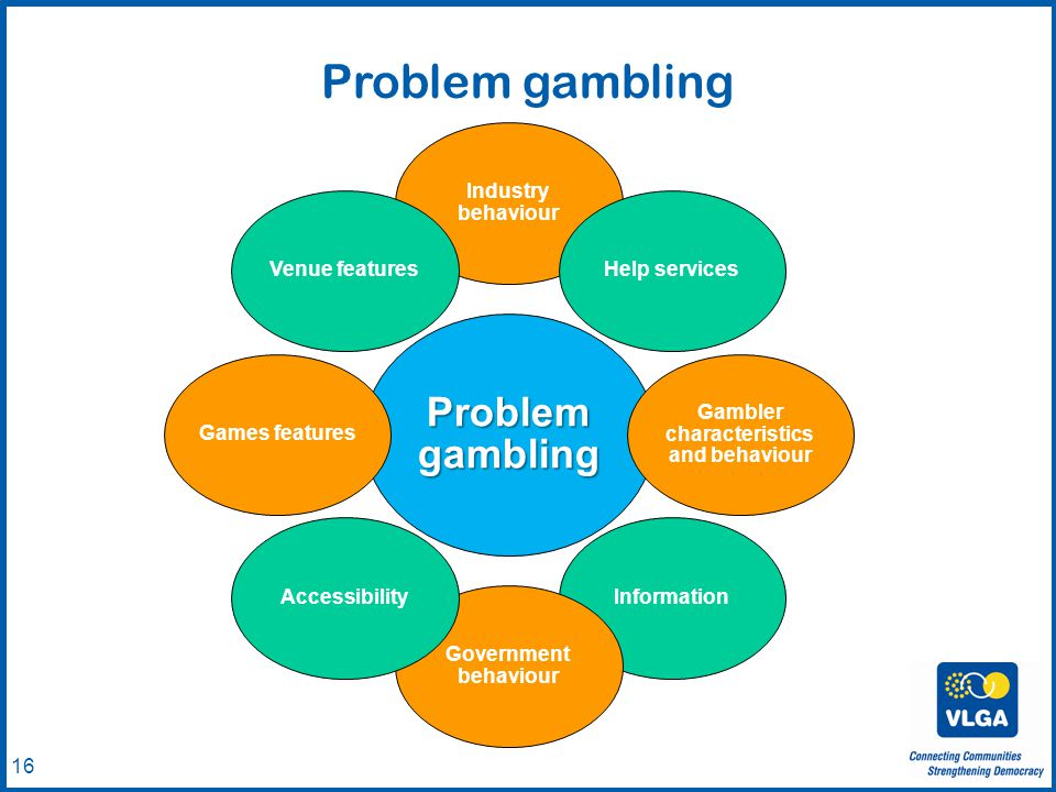 © VLGA 2010 16 Problem gambling Industry behaviour Help services Gambler characteristics and behaviour Information Government behaviour AccessibilityGames featuresVenue features