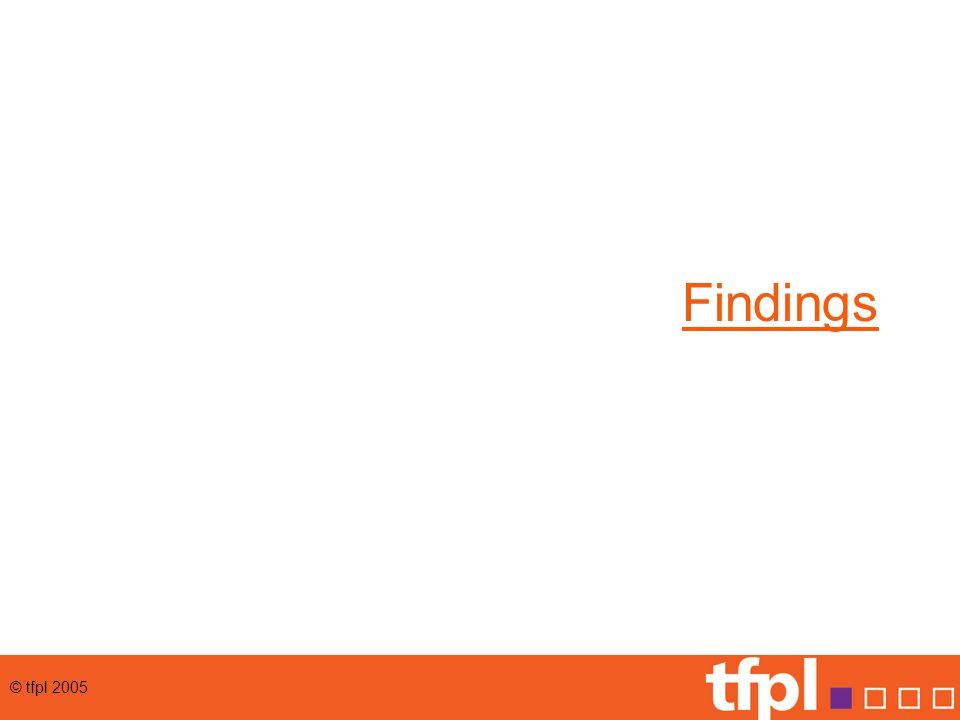 © tfpl 2005 Findings