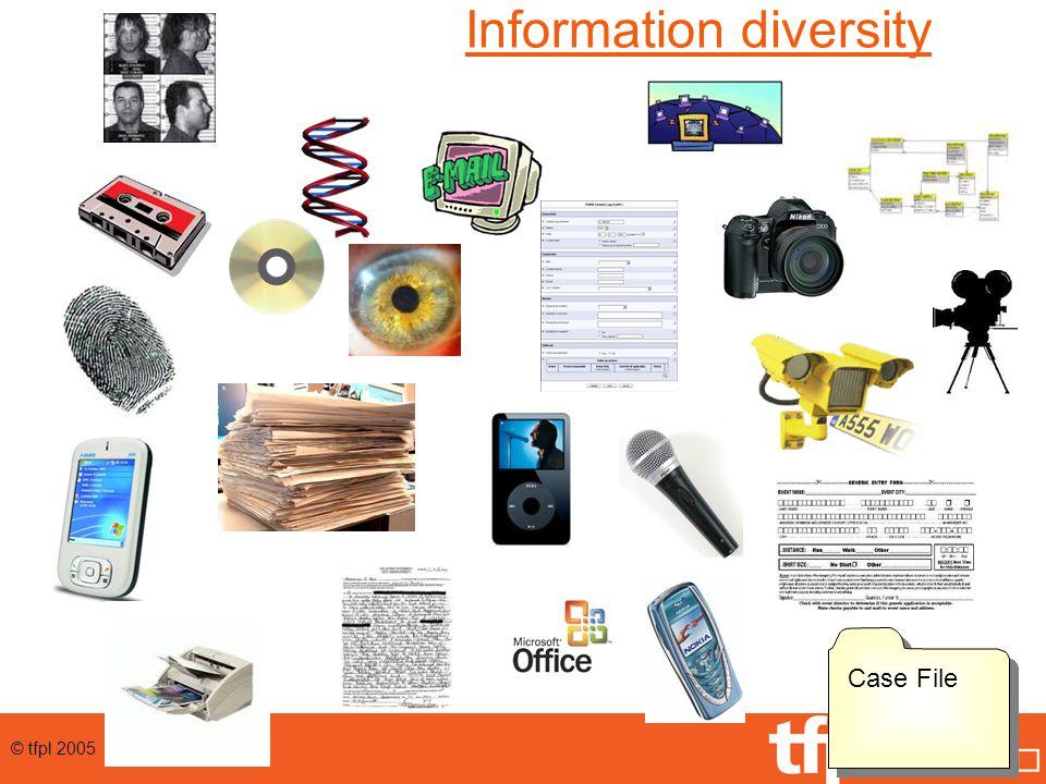 © tfpl 2005 Information diversity Case File