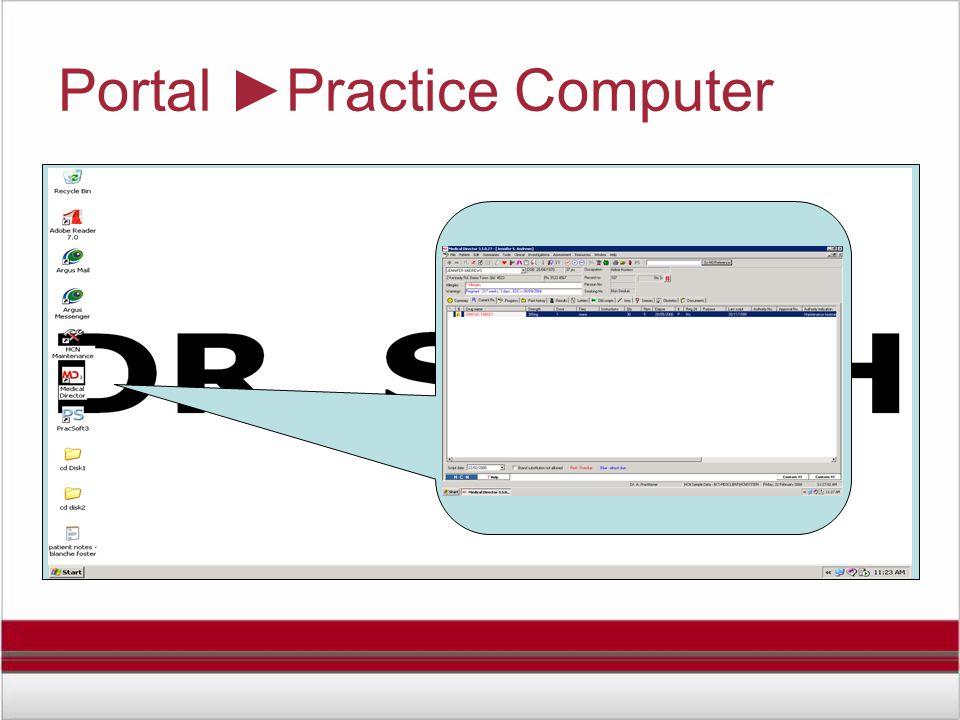Portal ►Practice Computer