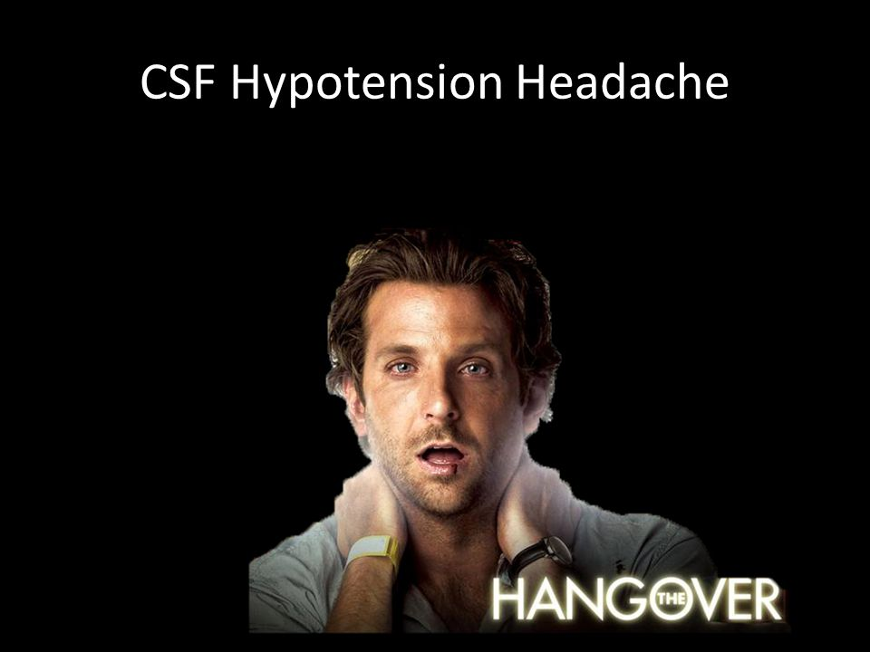 CSF Hypotension Headache