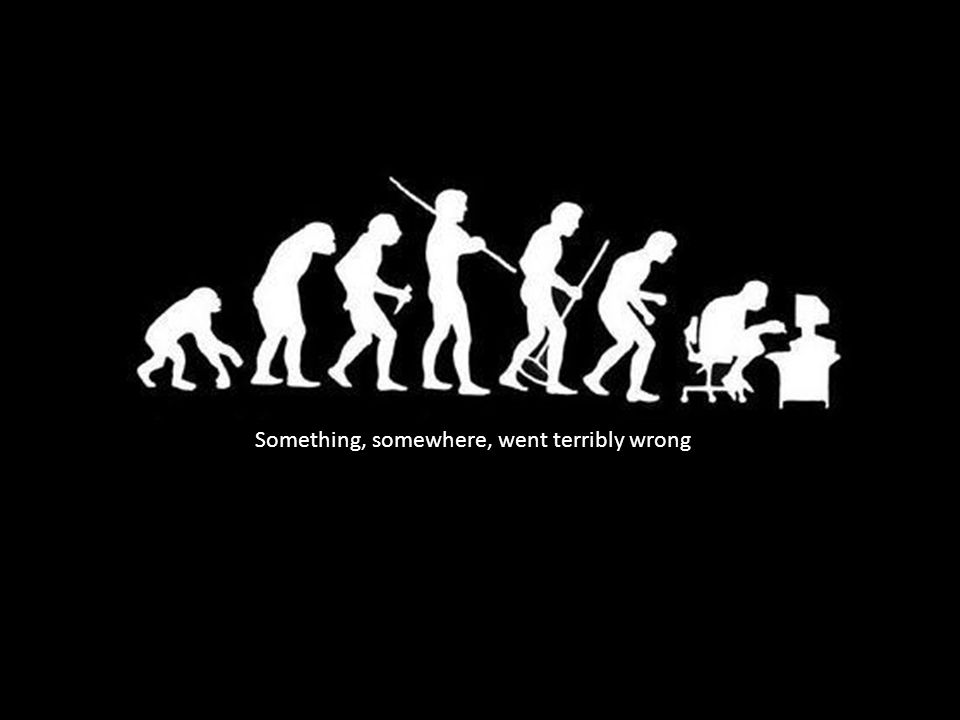 Something, somewhere, went terribly wrong
