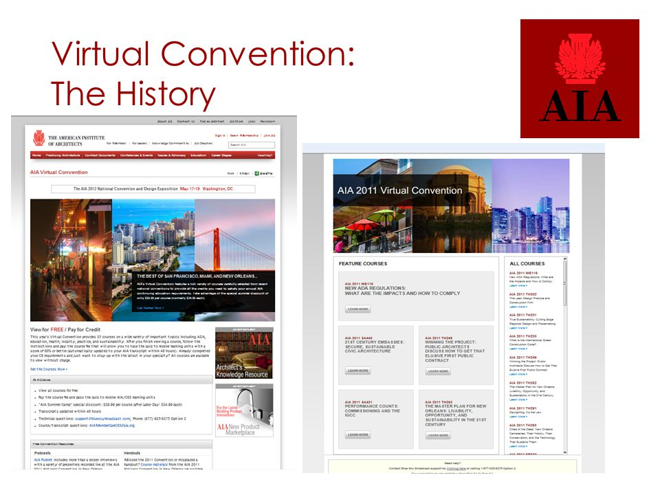 Virtual Convention: The History