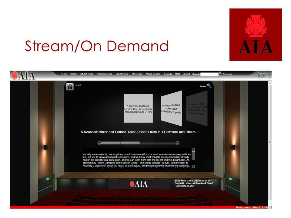 Stream/On Demand