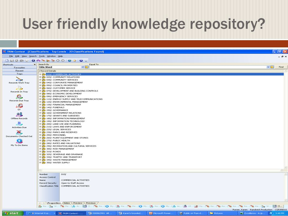User friendly knowledge repository.