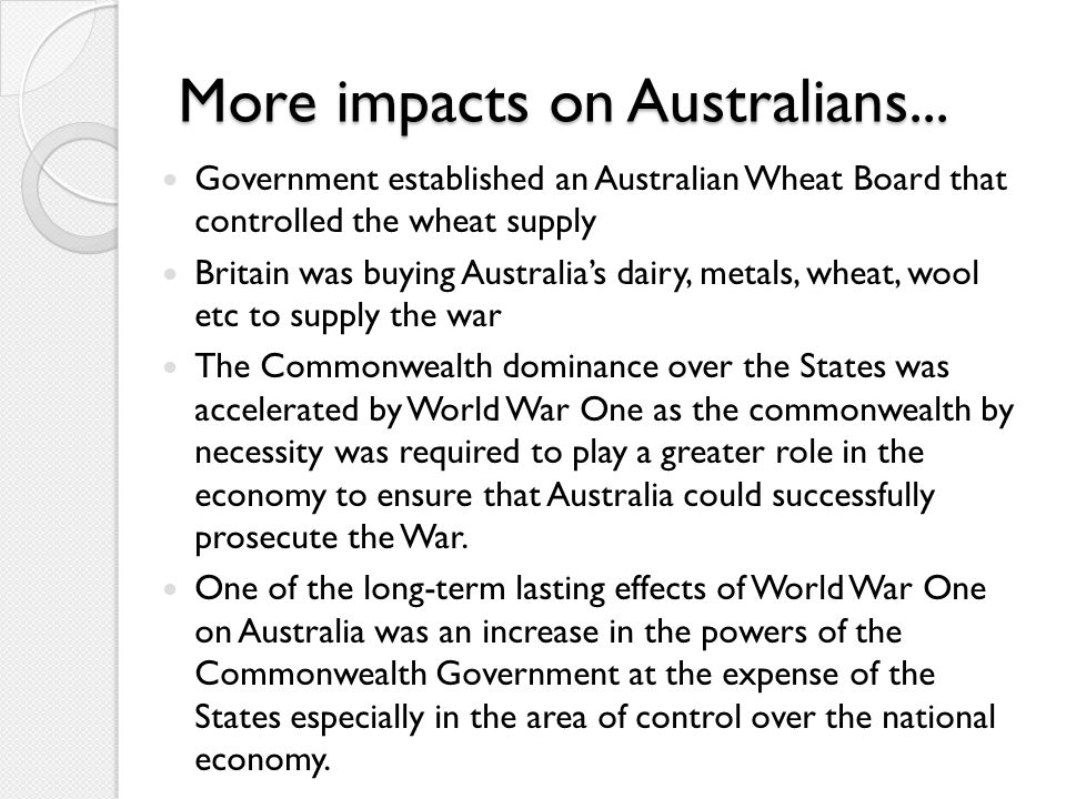 Impact of WW2 on the world WW2 caused the loss of millions of lives, having an enormous impact on countries' economies Germany was divided in to four quadrants (US, UK, France and Soviet Union) Influenced the development of a welfare state (e.g.