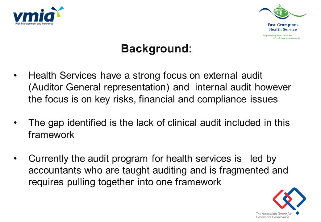 Developing a three year risk based program of internal audit Developing annual internal audit work plan 1.