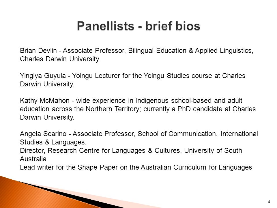 Brian Devlin - Associate Professor, Bilingual Education & Applied Linguistics, Charles Darwin University.