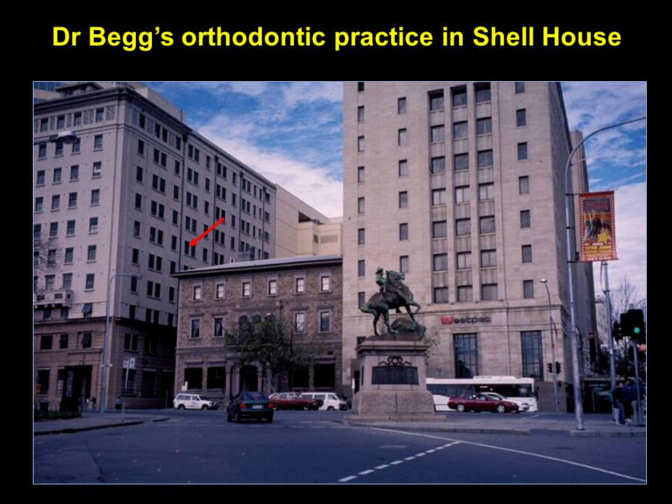 Dr Begg's orthodontic practice in Shell House