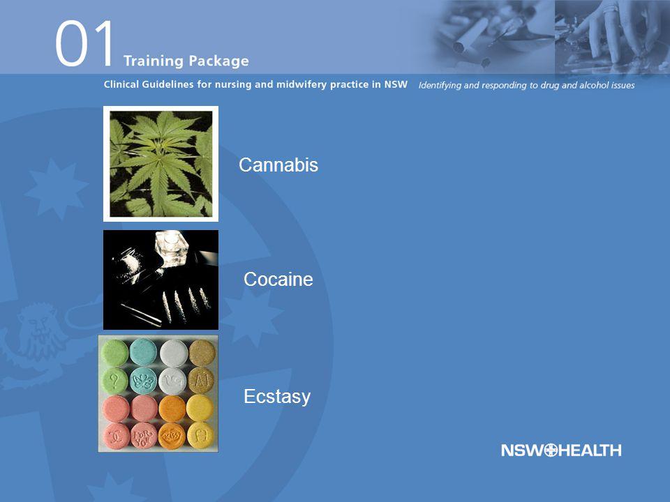 Cannabis Cocaine Ecstasy