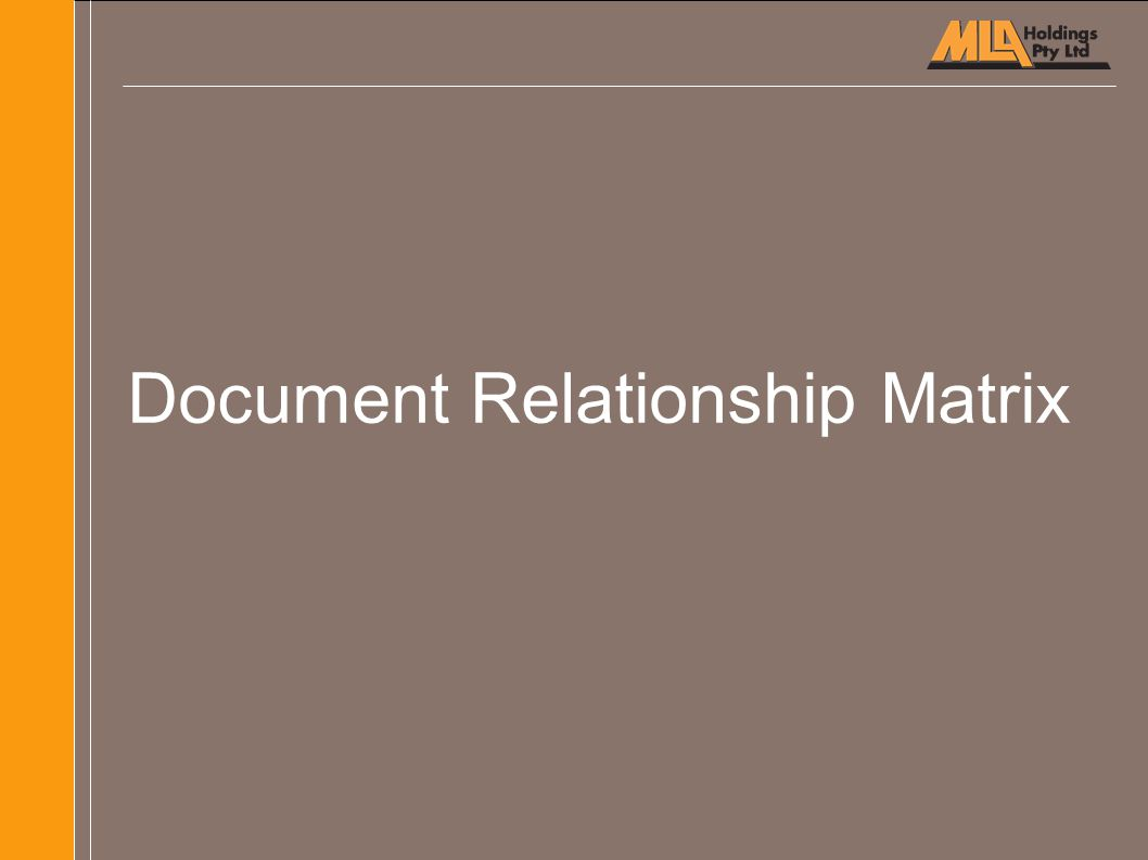 Document Relationship Matrix