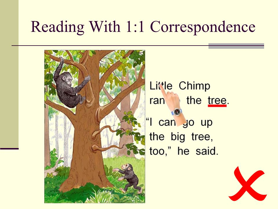 Reading With 1:1 Correspondence 