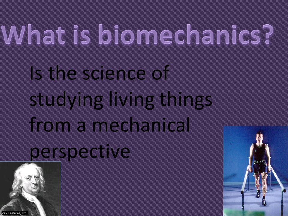 Is the science of studying living things from a mechanical perspective