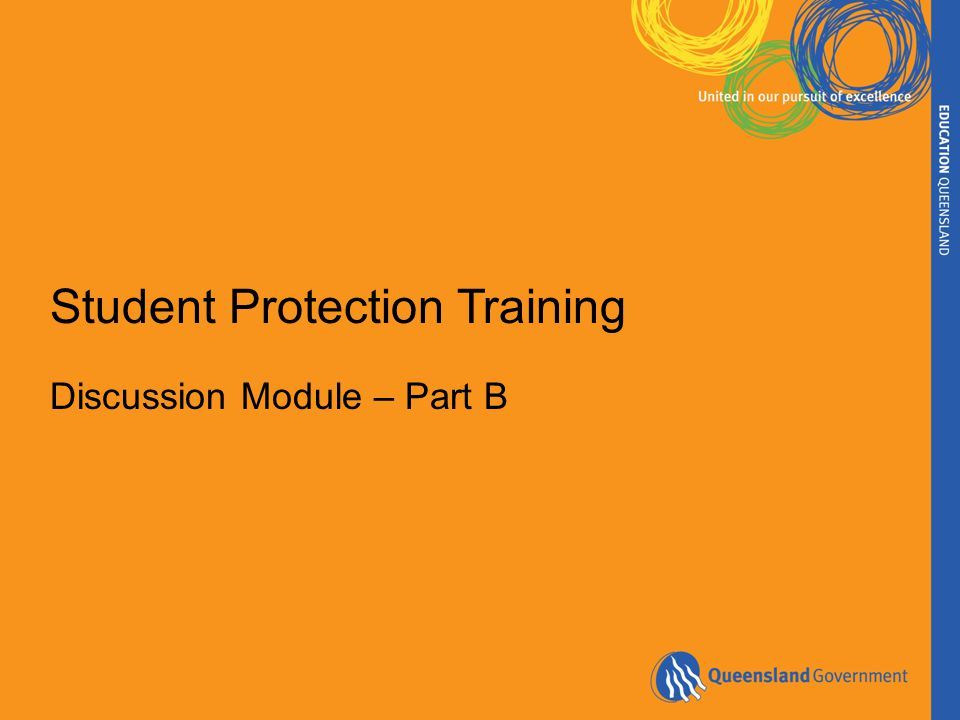 Student Protection Training Discussion Module – Part B
