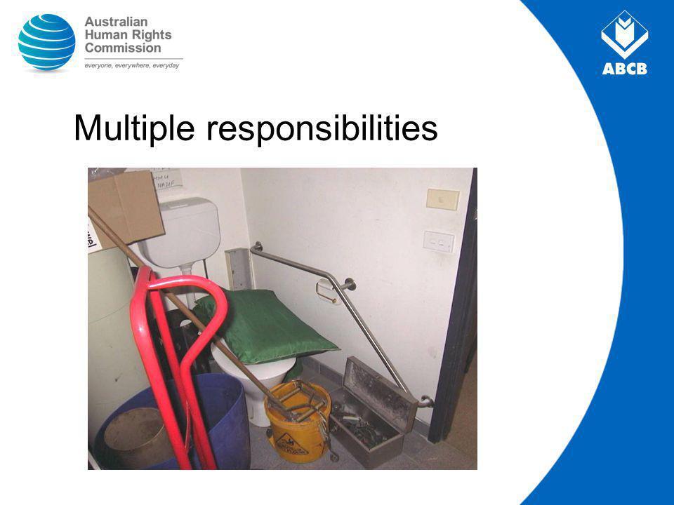 Multiple responsibilities