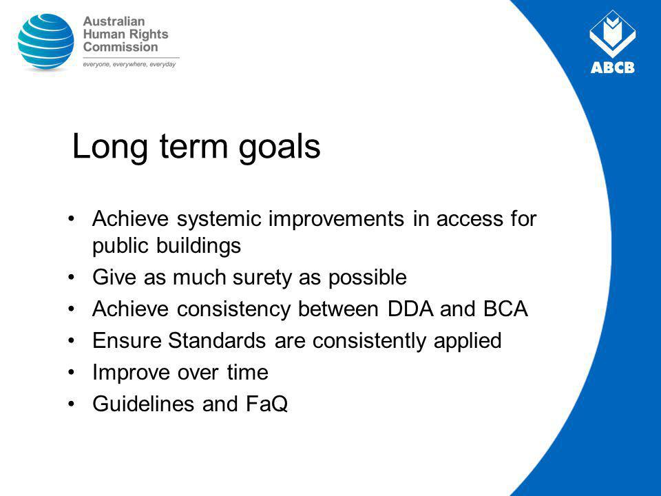 Development Process BAPC and Technical Working Group ABCB consideration of BAPC advice (2005) Advice to Ministers (2005-2006) RIS National seminars Targeted consultation Aust.