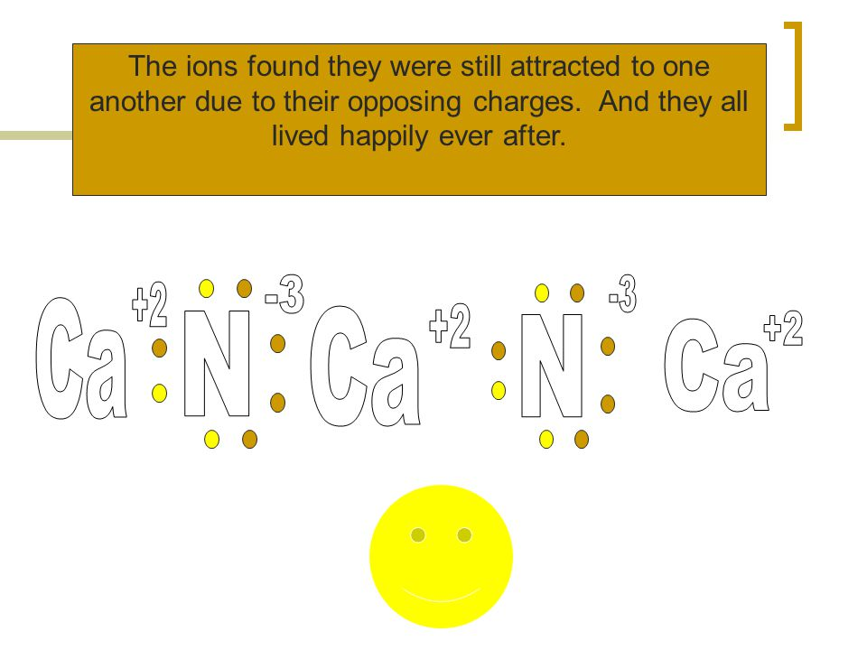 The ions found they were still attracted to one another due to their opposing charges.
