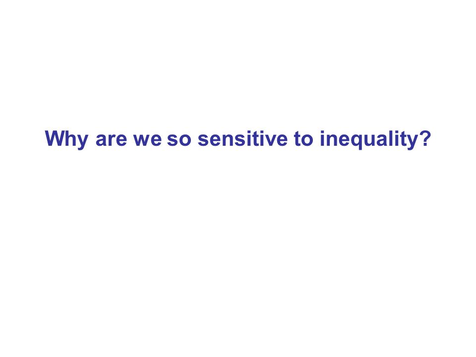 Why are we so sensitive to inequality?