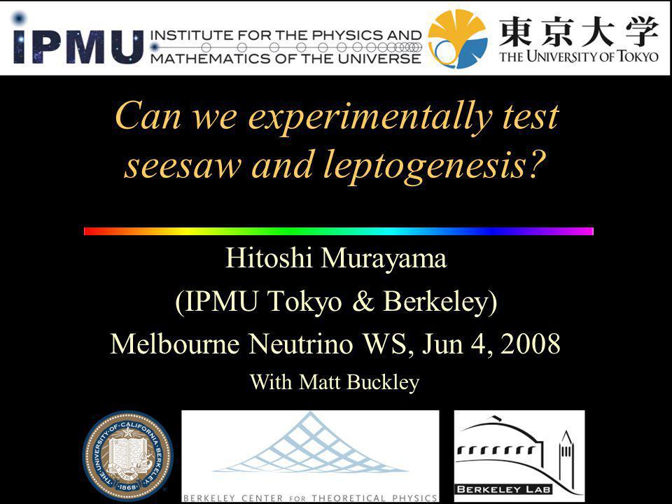 Can we experimentally test seesaw and leptogenesis.