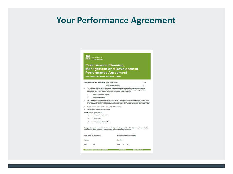 NSW DEPARTMENT OF EDUCATION AND COMMUNITIES – UNIT/DIRECTORATE NAME WWW.DEC.NSW.GOV.AU Your Performance Agreement