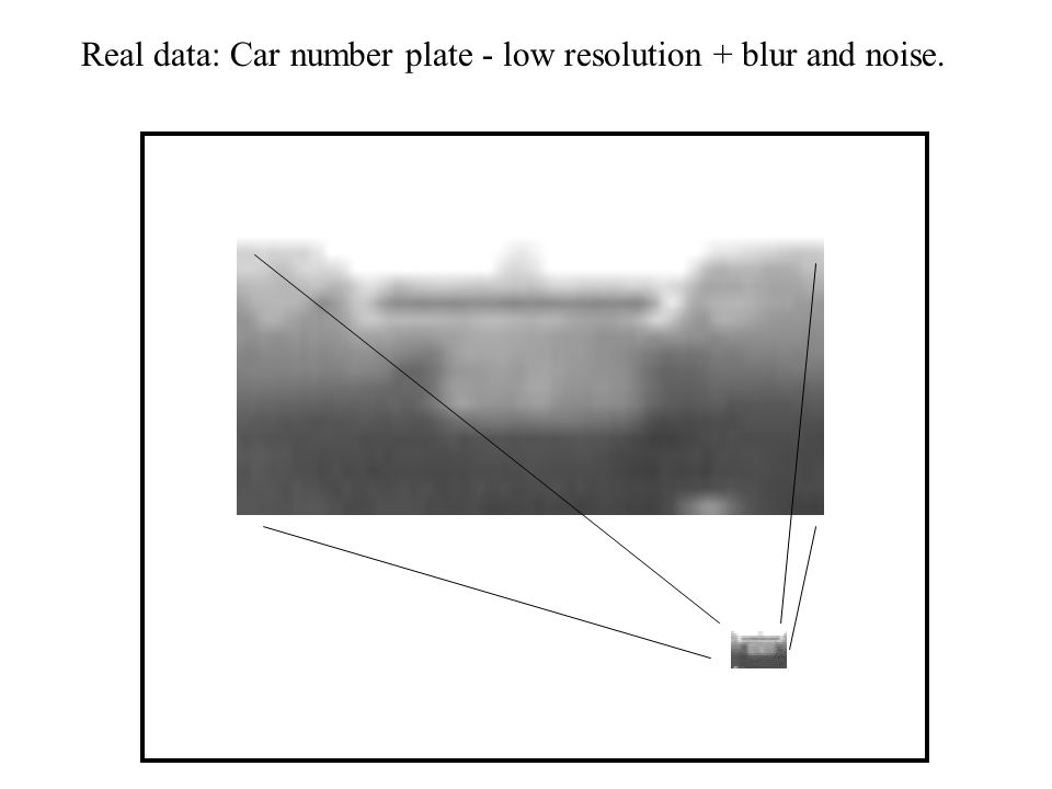 Super-resolution from multiple low resolution images: Number plate reconstruction