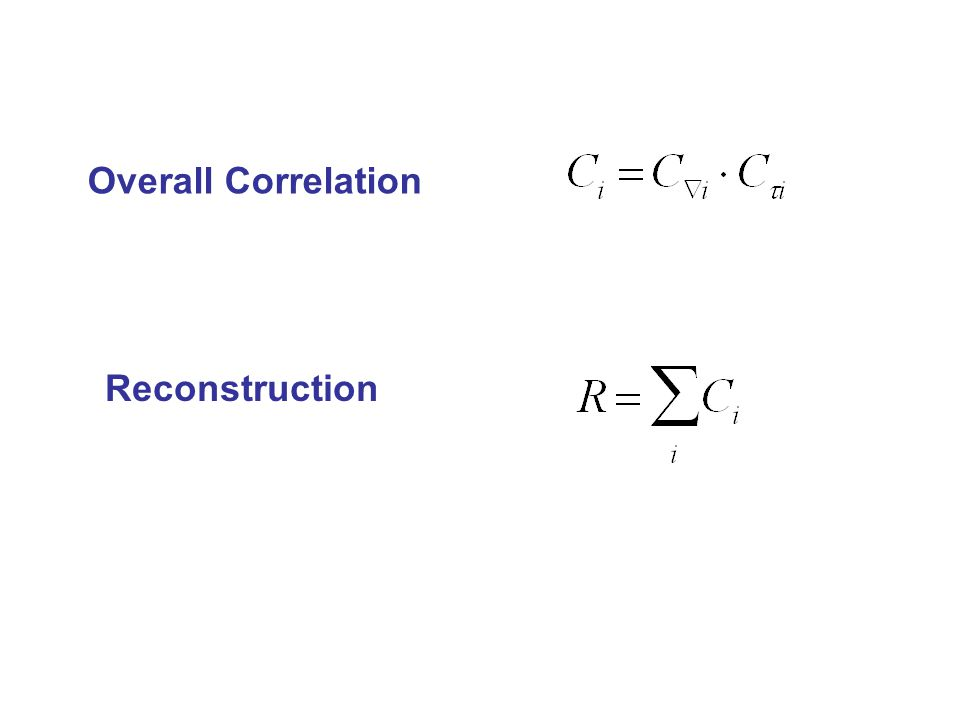 Overall Correlation Reconstruction