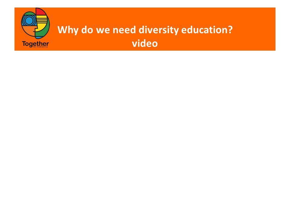 Why do we need diversity education video