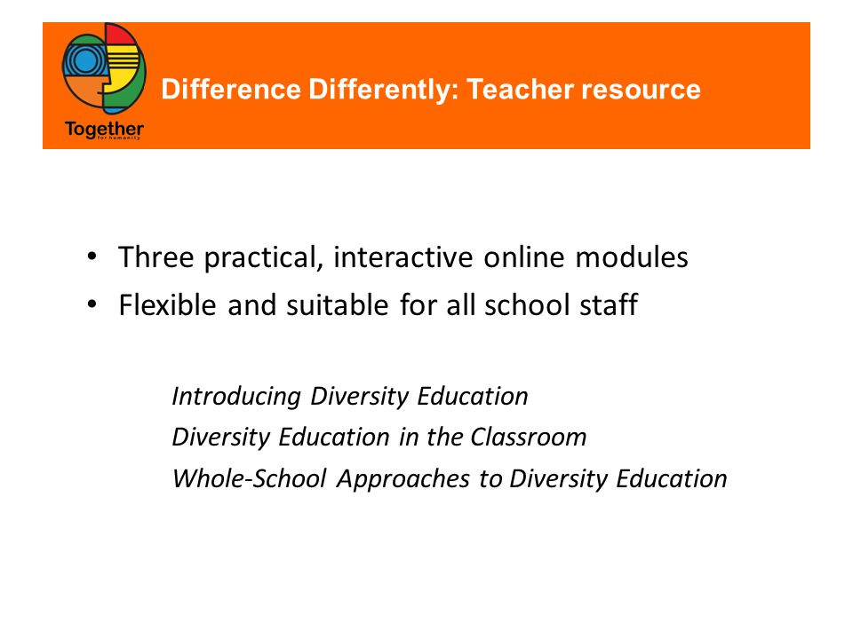 Exploring the Difference Differently student resource