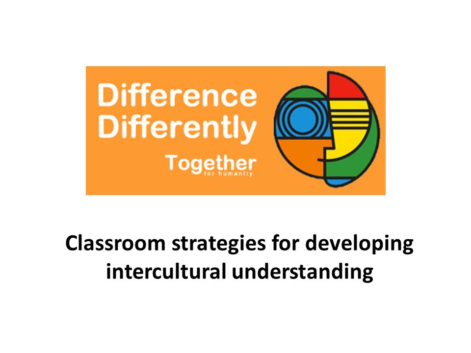 Developing intercultural understanding Exposure and contact Standpoint and perspective Empathy Media literacy Interpersonal and conflict resolution skills Active citizenship Roleplay, drama and storytelling Reflection