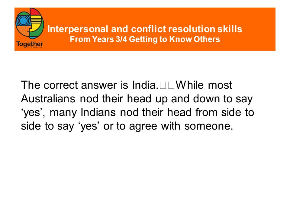 Interpersonal and conflict resolution skills From Years 7/8 Beliefs, Then and Now